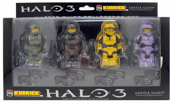 Halo 3 Series 2 Kubrick Master Chief Variant Collectors Set Figures