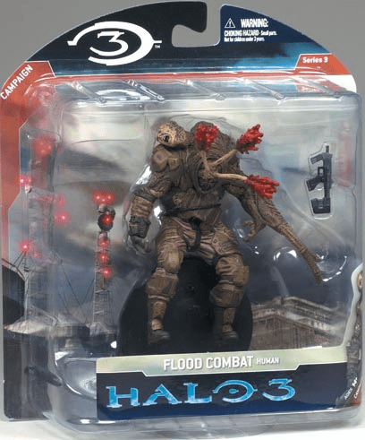 Halo 3 Series 3 Flood Combat Human with SMG Figure