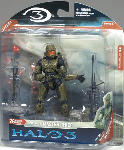 Halo 3 Series 3 Master Chief with Sniper Rifle Figure