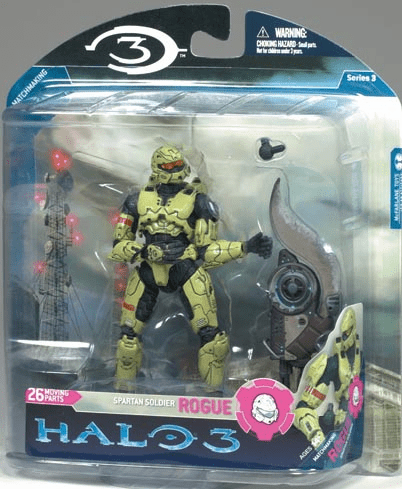 Halo 3 Series 3 Spartan Soldier Rogue with Brute Shot Figure
