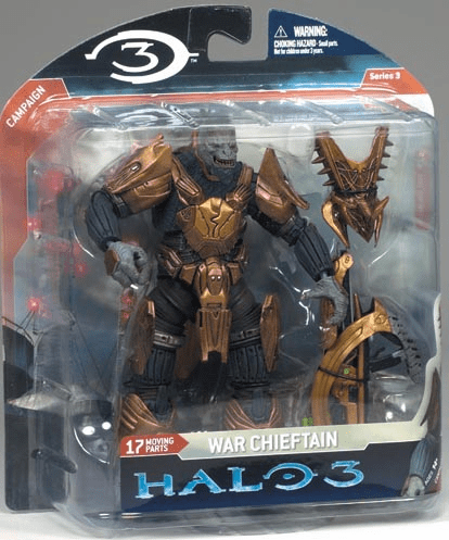 Halo 3 Series 3 War Chieftain with Fuel Rod Gun Figure