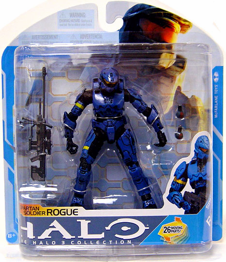 Halo 3 Series 7 Spartan Soldier Blue Rogue Action Figure