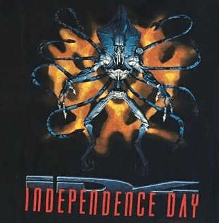 Hanes Independence Day ID4 Supreme Commander T-Shirt