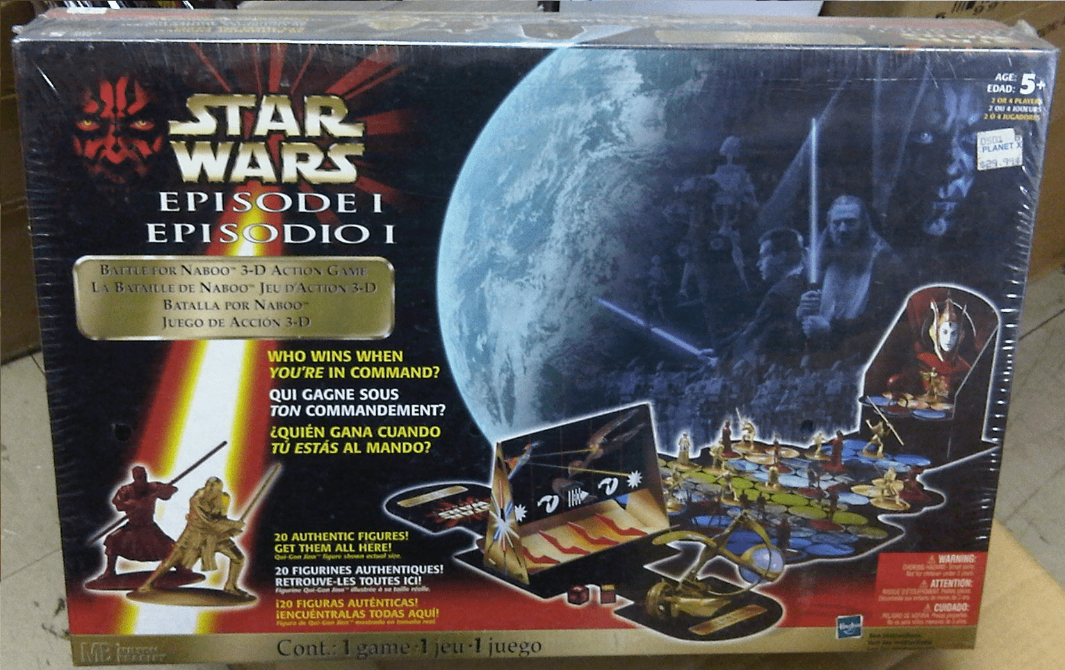 Hasbro Star Wars Episode 1 Battle for Naboo 3D Action Board Game