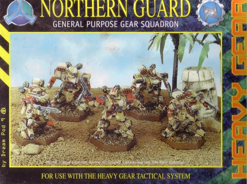 Heavy Gear Northern Guard General Purpose Gear Squad Miniatures