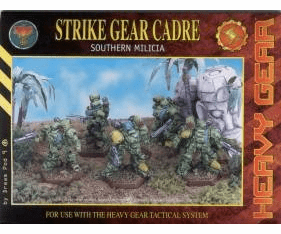 Heavy Gear Strike Gear Cadre Southern Milicia Miniature Set