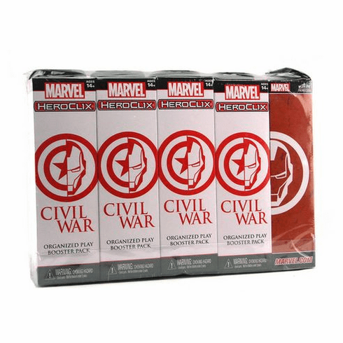 Heroclix Marvel Civil War Organized Play Event Booster Brick and Support Pack