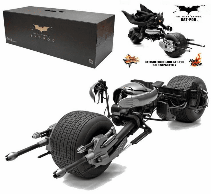 Hot Toys Collectibles The Dark Knight Bat-Pod 1/6 Scale Vehicle