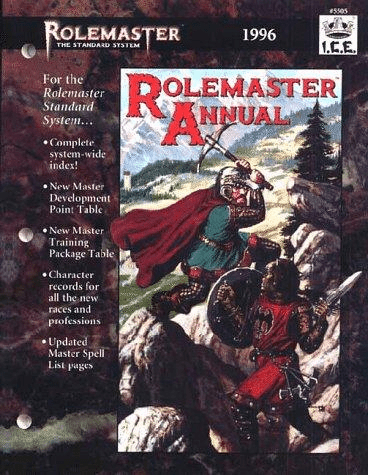 I.C.E. Rolemaster Annual 1996 RPG Book