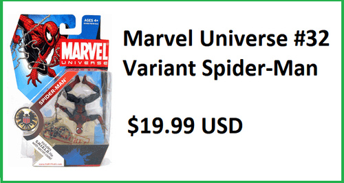 Marvel Universe #32 Upside Down Spider-Man Figure