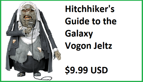 NECA The Hitchhiker's Guide to the Galaxy Vogon Jeltz Figure
