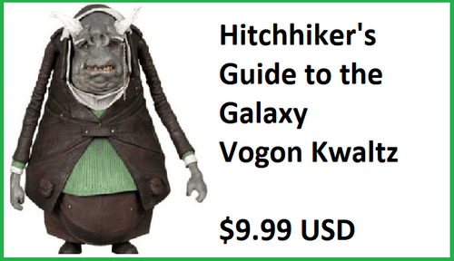 NECA The Hitchhiker's Guide to the Galaxy Kwaltz Vogon Figure