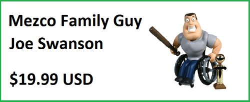 Mezco Family Guy Series 3 Joe Swanson Action Figure