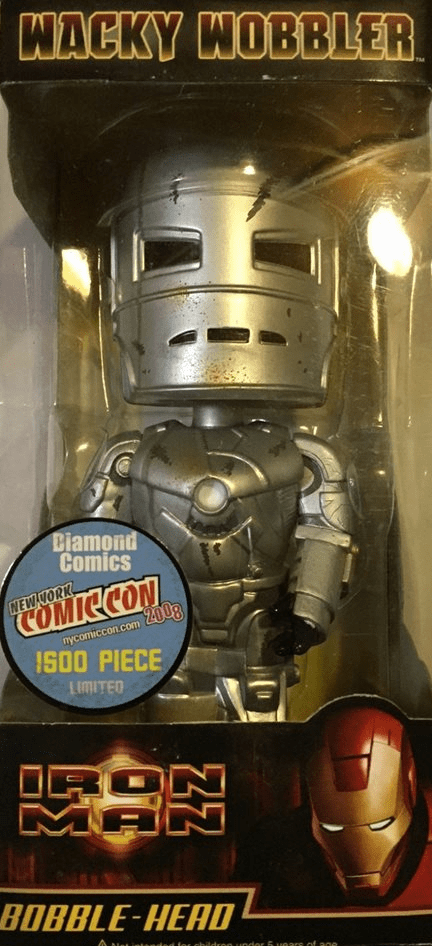 Iron Man Mark 1 Armor Battle-Damaged Wacky Wobbler NYCC 2008