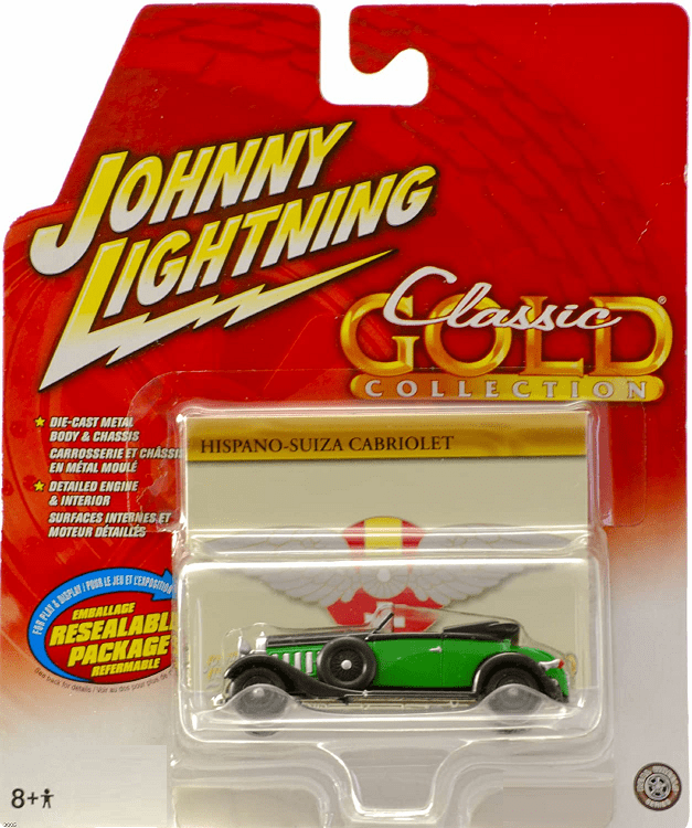 Johnny Lightning Classic Gold Hispano Suiza Cabriolet Die Cast Car