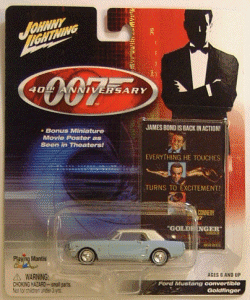 Johnny Lightning James Bond 40th Anniversary Goldfinger Ford Mustang