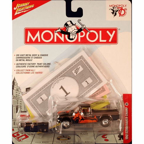 Johnny Lightning Monopoly 70th Anniversary 1961 Studebaker Champ Truck