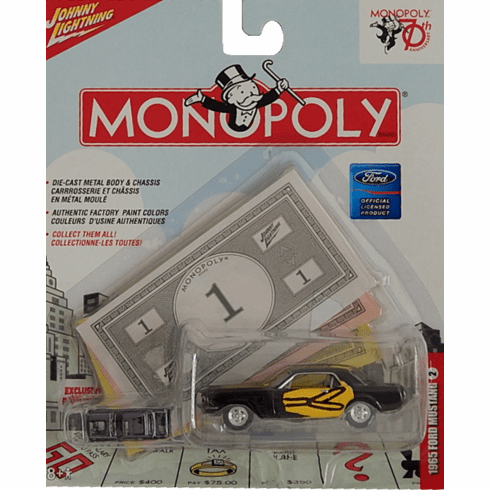 Johnny Lightning Monopoly 70th Anniversary 1965 Ford Mustang Die Cast Car