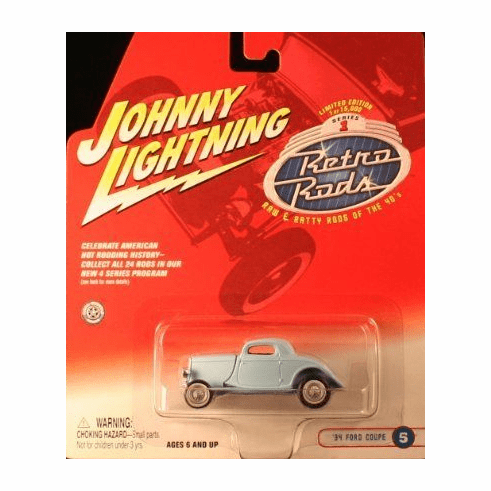 Johnny Lightning Retro Rods 1934 Ford Coupe Hot Rod Car