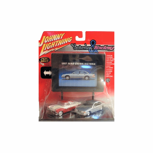 Johnny Lightning Yesterday & Today Ford Crown Victoria Set