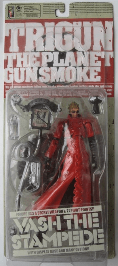 Kaiyodo Trigun The Planet Gunsmoke Vash the Stampede with Sunglasses Action Figure