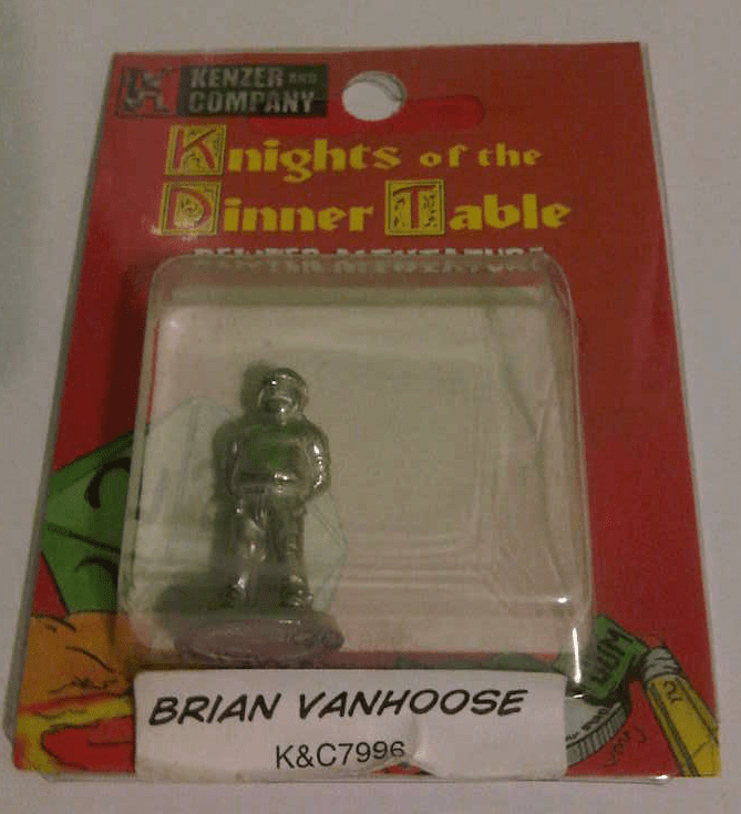 Knights of the Dinner Table Brian Vanhoose Miniature