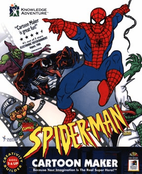 Knowledge Adventure Spider-Man Cartoon Marker CD-ROM Kit