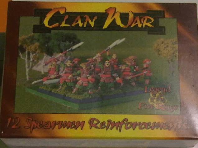 L5R Clan War 12 Spearmen Reinforcements Miniature Set