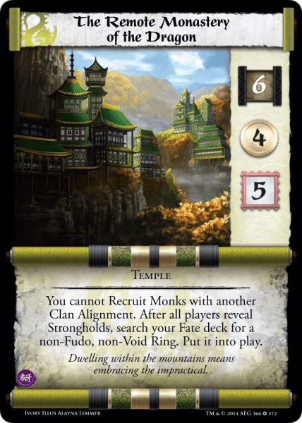 L5R Ivory Edition Remote Monastery of the Dragon Demo Deck