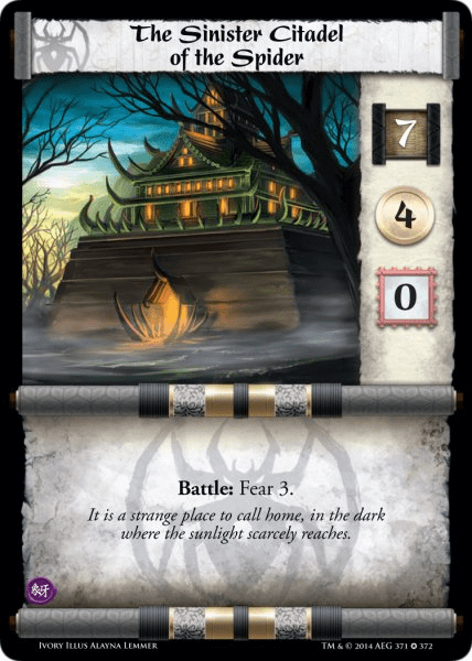 L5R Ivory Edition Sinister Citadel of the Spider Demo Deck