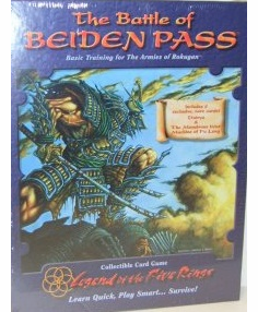 Legend of the Five Rings The Battle of Beiden Pass CCG Set