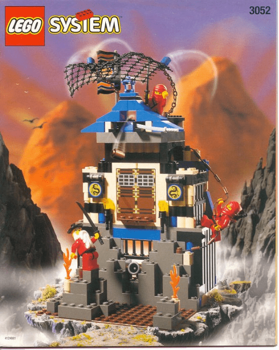 Lego 3052 Ninja Fire Fortress Box Set