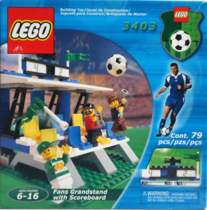 Lego 3403 Sports Fan's Grandstand with Scoreboard Set