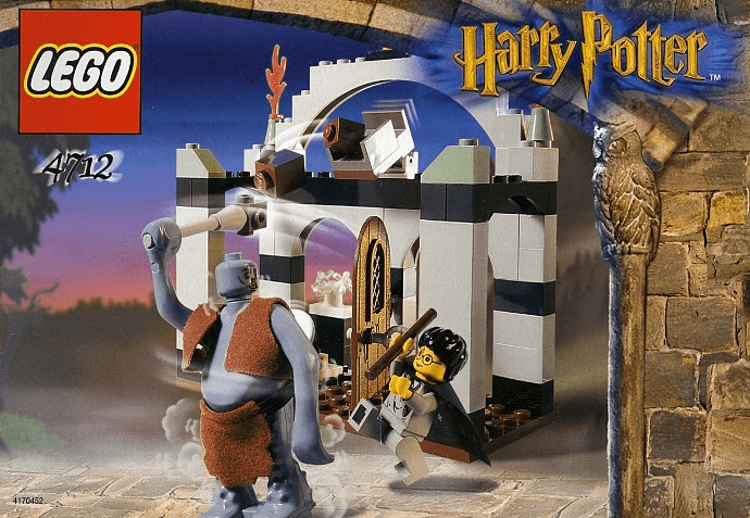 Lego 4712 Harry Potter Troll on the Loose Box Set