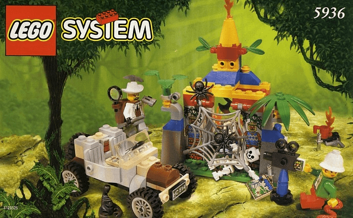 Lego 5936 Adventurers Jungle Spider's Secret Set