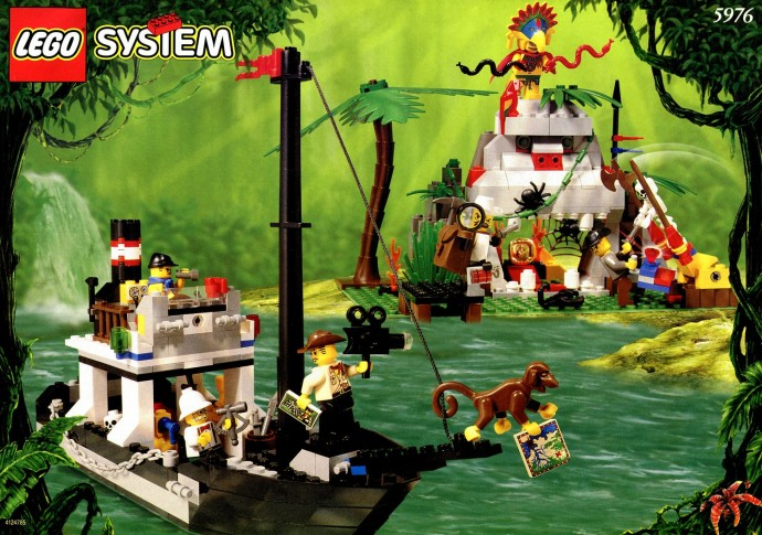Lego 5976 Adventurers Jungle River Expedition Set