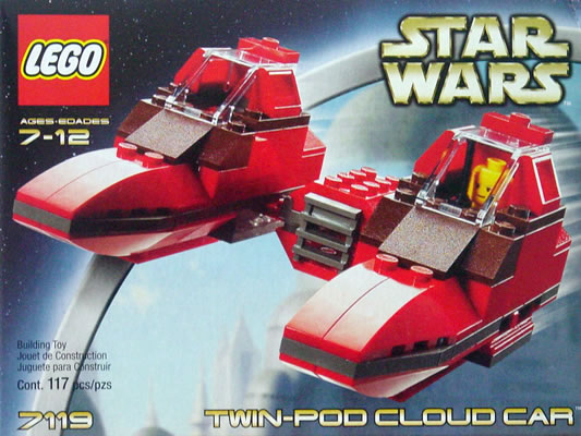 Lego 7119 Star Wars Twin-Pod Cloud Car Set