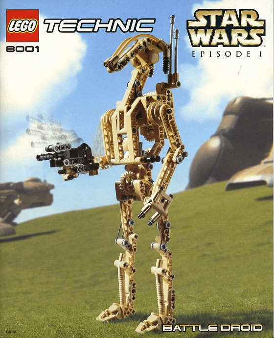 Lego 8001 Technic Star Wars Battle Droid Set