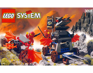 Lego Ninja 3051 Blaze Attack Set