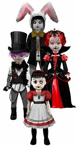 Living Dead Dolls Alice In Wonderland Set