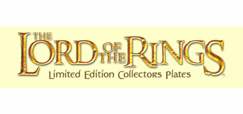 Lord of the Rings Collector Plates