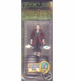 Lord of the Rings Fellowship of the Ring 111th Birthday Bilbo Figure