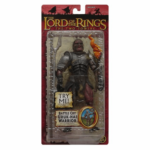 lord of the rings two towers battle cry uruk hai warrior action figure lord of the rings two towers battle cry uruk hai warrior action figure