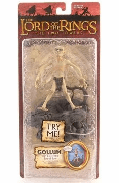Lord of the Rings Two Towers Gollum with Electronic Base Action Figure