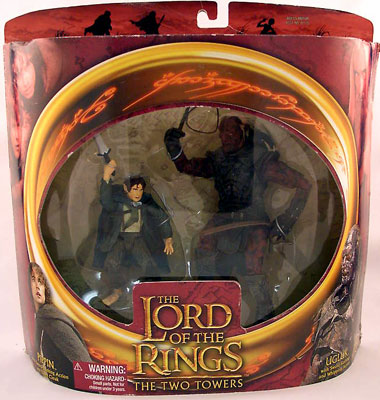 Lord of the Rings Two Towers Pippin and Ugluk Figure Set