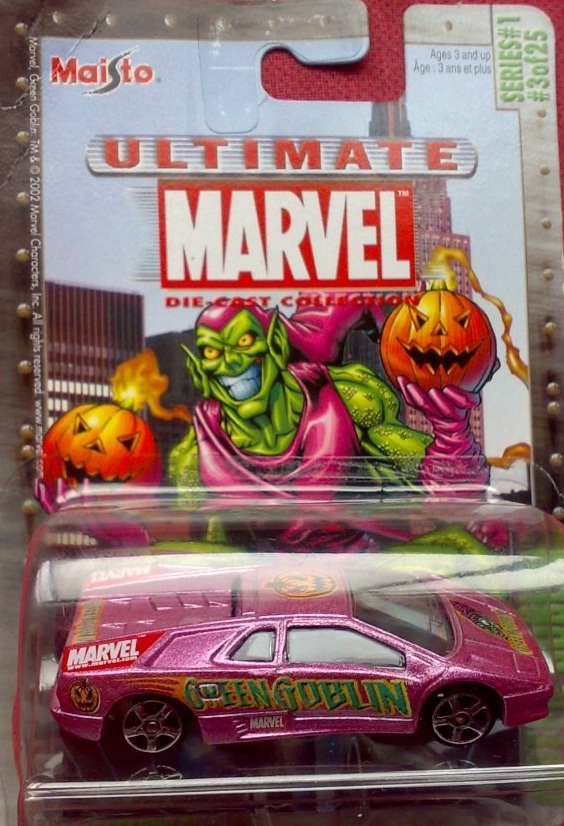 Maisto Ultimate Marvel Die-Cast Green Goblin Lamborghini Car