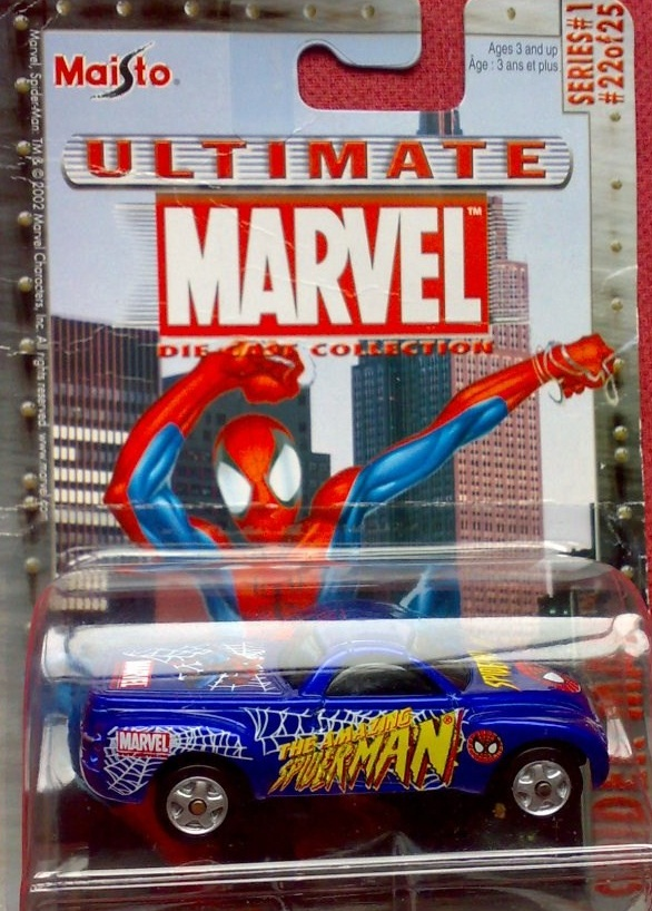 Maisto Ultimate Marvel Die-Cast Spider-Man Chevrolet SSR Car