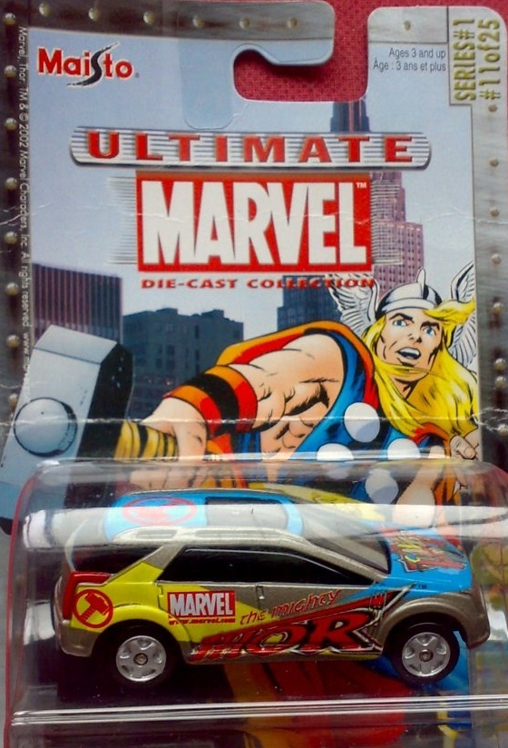 Maisto Ultimate Marvel Die-Cast Thor Cadillac Vizon Car