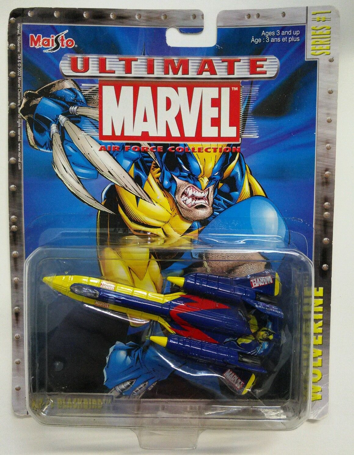 Maisto Ultimate Marvel Die-Cast Wolverine SR-71 Blackbird