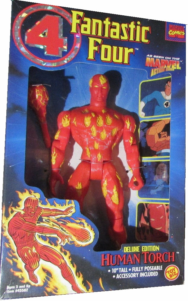 Marvel Action Hour Fantastic Four Deluxe Edition Human Torch Figure